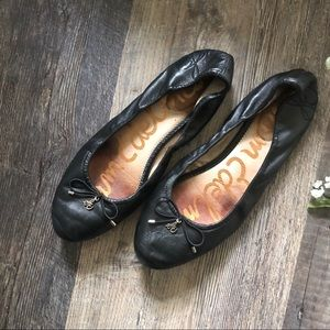 Sam Edelman | Black Leather Felicia Ballet Flats